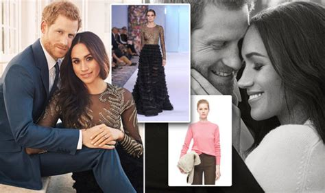 meghan markles  engagement dress designed  british