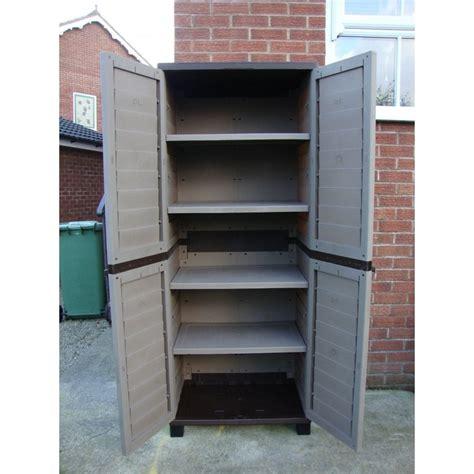 plastic shelf for kitchen cabinets starplast plastic utility cabinet with 4 shelves garden 9141