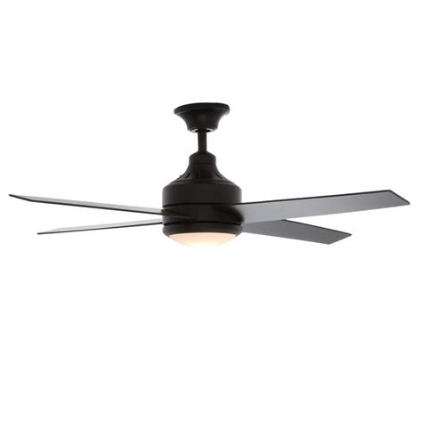 matte black ceiling fan hton bay mercer 52 in indoor matte black ceiling fan