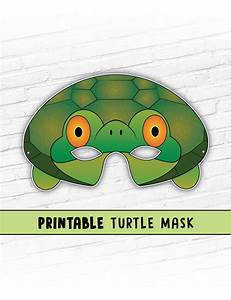 turtle mask tortoise mask party mask halloween costume With tortoise mask template