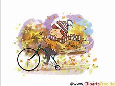 Herbst Bilder kostenlos Junge fährt Fahrrad im Park