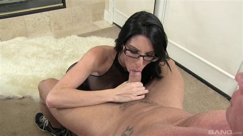 Brunette With Sexy Glasses Fast POV Blowjob And Strong