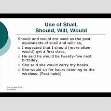 Use Of Shall, Should, Will, Would [unit 47] Youtube