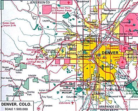 map  denver denver city map
