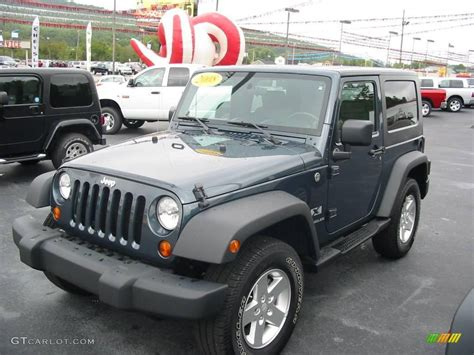 jeep metallic 2008 steel blue metallic jeep wrangler x 4x4 19651649