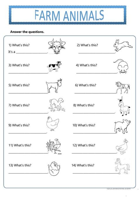 Farm Animals  What's This? Do You Like? Worksheet  Free Esl Printable Worksheets Made By