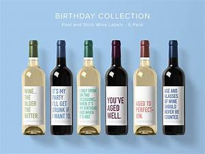 birthday wine label collection wine label 6 pack funny With collecting wine labels