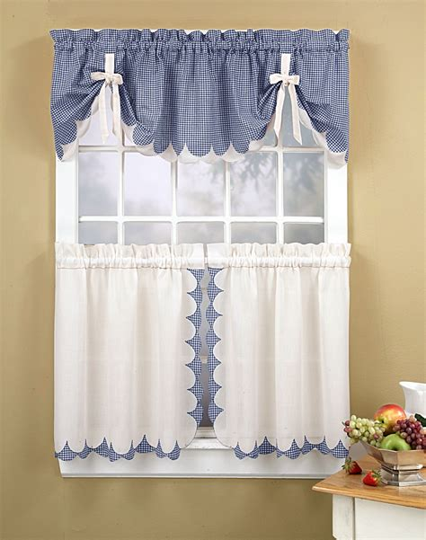 Kitchen Curtains Tabitha 3 Piece Kitchen Curtain Tier