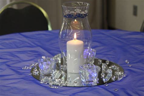 blue  black reception table royal blue  silver