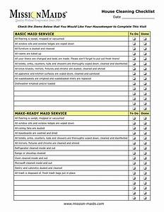 housekeeping checklist house keeping cleaning checklistg With maid checklist template