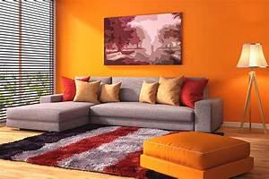 Farben Für Wände : orange pur energiekur f r ihre w nde farben magazin farben shop farbe online kaufen ~ Frokenaadalensverden.com Haus und Dekorationen