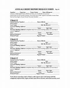 2018 Annual Credit Report Form Fillable Printable PDF
