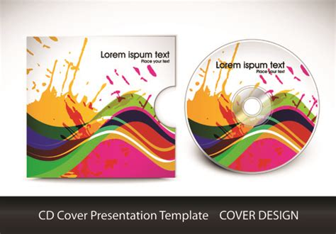 cool cd cover template cd cover presentation vector template material 03 free