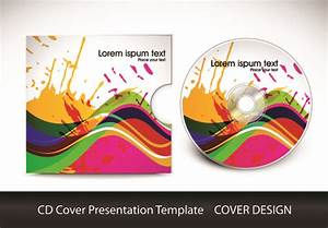 cd cover presentation vector template material 03 vector With cd cover design template free download