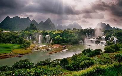 China Desktop Guangxi Daxin Detian Waterfall County