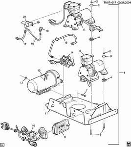 Hummer H2 Harness  Air Suspension Compressor Tank
