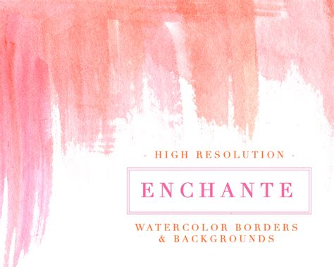 enchante watercolor paint strokes splash clipart background 5x7 card