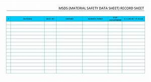 Msds record sheet for Material safety data sheet template free