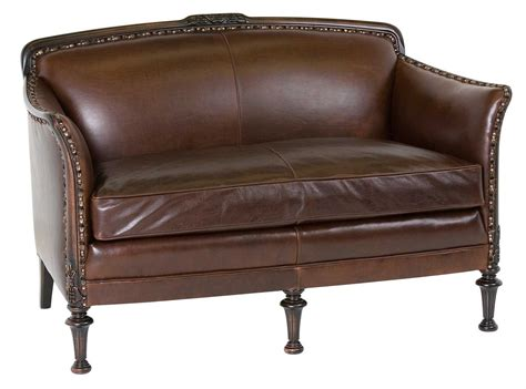 classic settees classic leather ludon settee loveseat cl2232