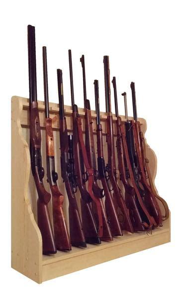 vertical gun rack pine wooden vertical gun rack 10 place rifle shotgun floor