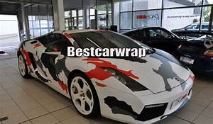 Covering Camouflage Rouge : 2019 red white arctic camo vinyl car wrap film with air rlease gloss matt snow camouflage ~ Medecine-chirurgie-esthetiques.com Avis de Voitures