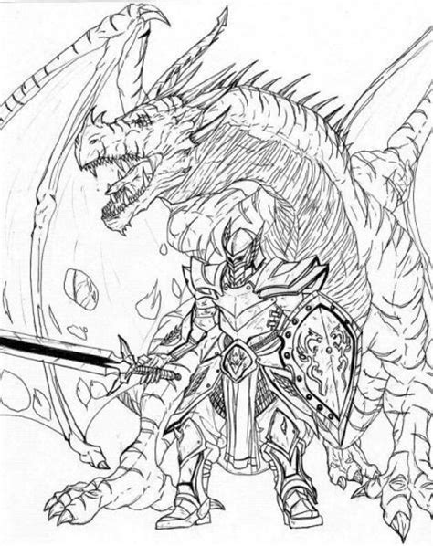 Kleurplaat Anime Beserk by Coloring Pages Knights And Dragons Coloring Home