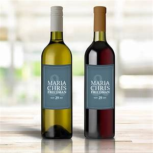 Personalized wine bottle labels mr mrs custom wedding for Custom photo wine bottle labels