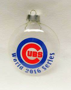CHICAGO CUBS Glass Painted Glitter Resin CHRISTMAS