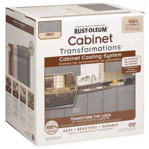 rustoleum countertop transformations rust oleum transformations 1 qt gray cabinet small kit