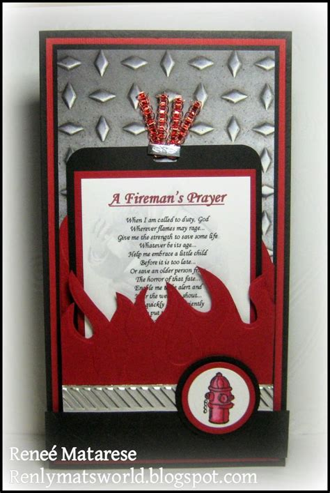 firefighter congratulations hand  greeting cards