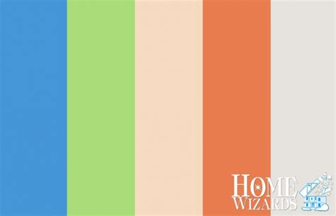color palette warm beachy home wizards