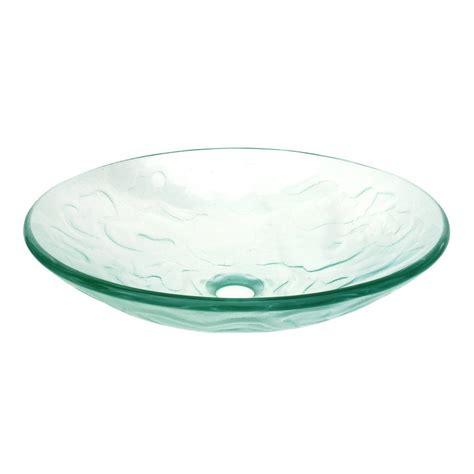 clear glass vessel sinks shop eden bath clear glass vessel round bathroom sink at