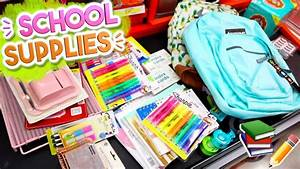 Back To School Supplies Haul 2017  Alisha Marie