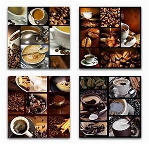 Wandbilder Für Küche : 4 x wandbilder kaffee bohnen tasse 50 cm x 50 cm milchkaffee cappuccino bilder ebay ~ Sanjose-hotels-ca.com Haus und Dekorationen