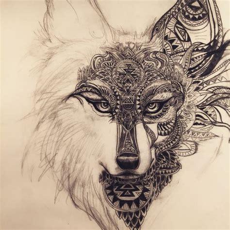 dessin louprenard motifs mandala tatoo pinterest