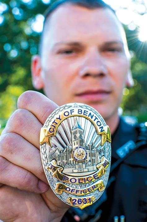 matter  pride benton police wearing newly designed badge