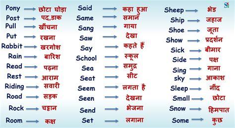 english vocabulary  hindi meaning part  shiv kids