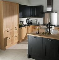 Black Painted Oak Kitchen Cabinets