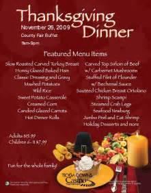 Traditional Thanksgiving Dinner Buffet Menu