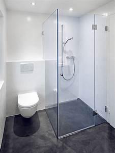 Fugenlose Bodenbeläge Bad : bodenebene dusche mit fugenlosen bodenbelag und wandbelag velamia ~ Markanthonyermac.com Haus und Dekorationen
