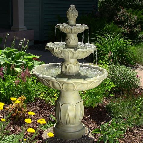 tulip  tier garden water fountain eonshoppee