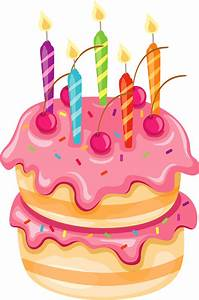 Pink Cake with Candles PNG Clipart   ANIVERSARIS ...