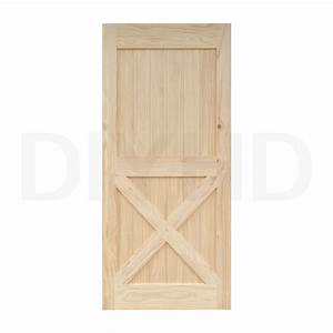3884quot pine knotty sliding barn wood door slab two side x With 38 inch barn door