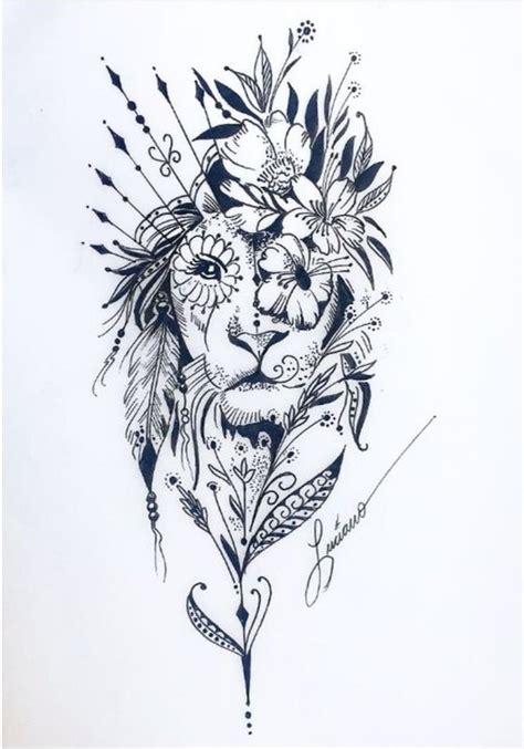 tatuagens de leoes femininos mais de  modelos