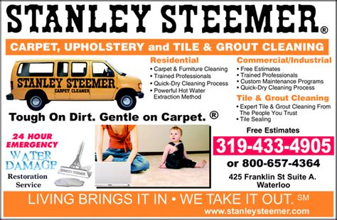 stanley steemer tile cleaning stanley steemer carpet cleaner waterloo ia 50703 3519