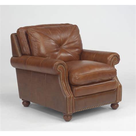 flexsteel 1741 10 suffolk leather chair discount furniture