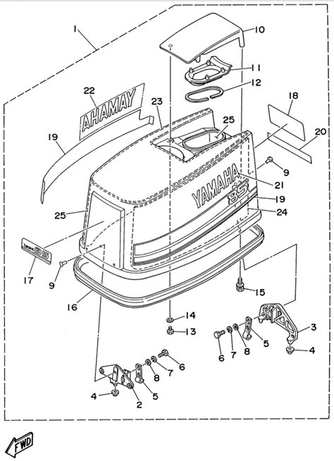 Yamaha Top Cowling Parts For Ctlru Outboard Motor