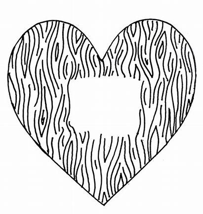 Heart Stamp Wood Clipart Grain Rubber Valentines