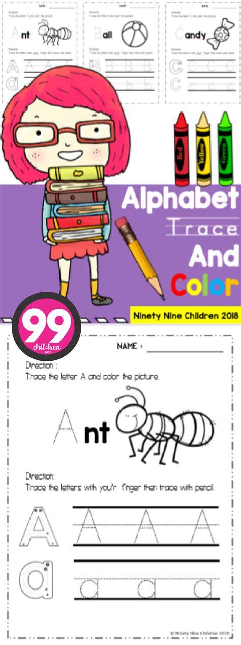 alphabet trace  color homeschool programs
