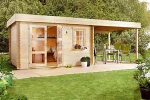 abri de jardin avec pergola abri de jardin a toit plat With maison bois toit plat 7 abri de jardin warwick 17 28mm avec terrasse direct abris